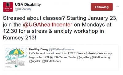 Screenshot of Health Center Quoted Tweet