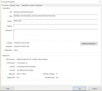 set a PDF's document title