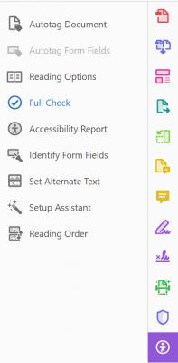run a full accessibility check on a PDF