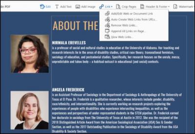 edit hyperlinks in a PDF