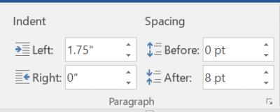 demonstrating adjusting paragraph spacing using Layout