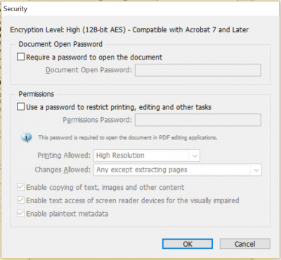 in security, enable text access of screen reader