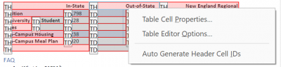 choose Table Cell Properties